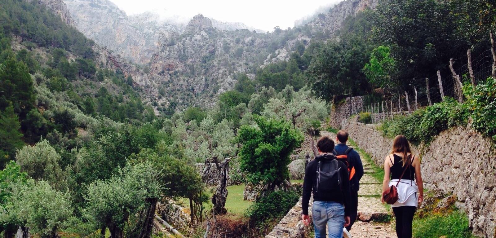 hiking in majorca Barranc de Biniaraix