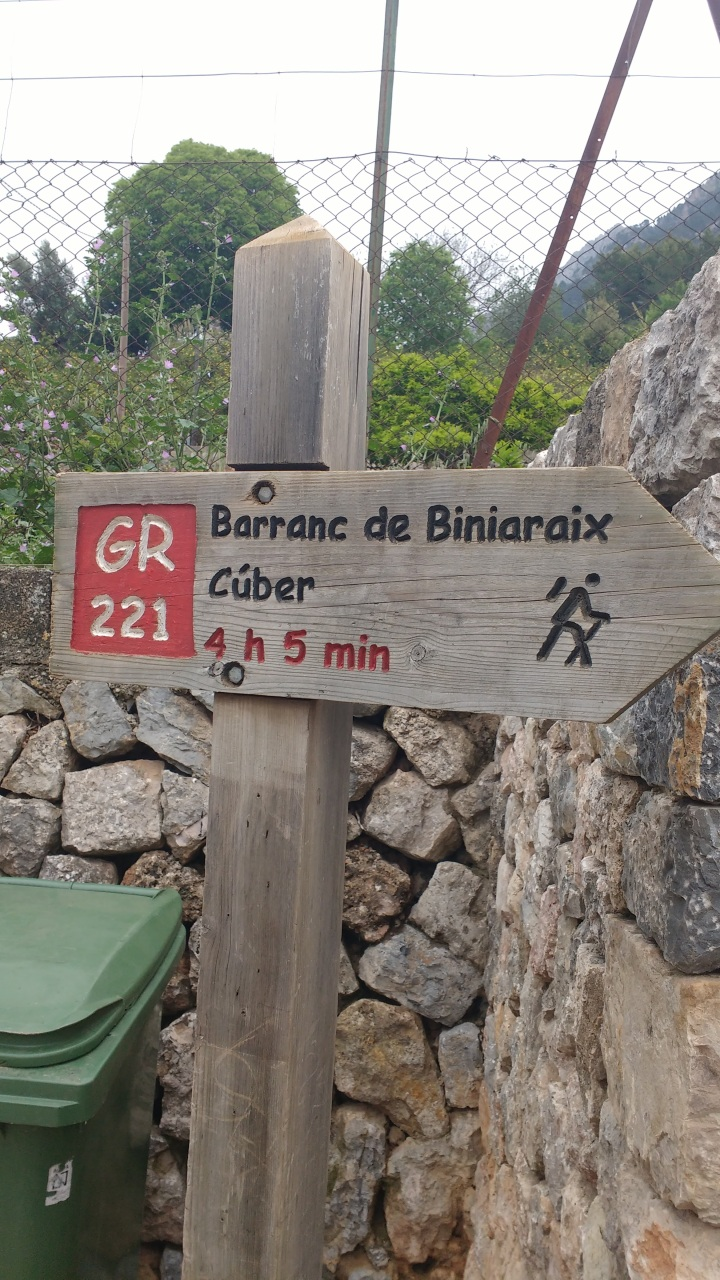 hiking in majorca Barranc de Biniaraix