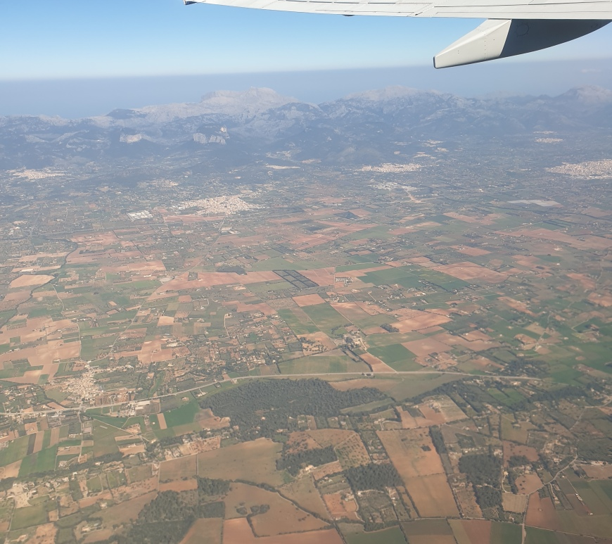 flying over mallorca